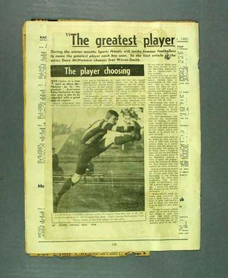 Newspaper clippings associated with life & career of Dave McNamara