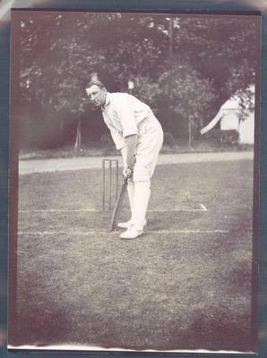 Photograph from Frank Laver's photograph album, Warwick Armstrong - Australian cricket team tour of England 1909