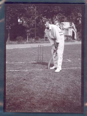 Photograph from Frank Laver's photograph album, Victor Trumper - Australian cricket team tour of England 1909