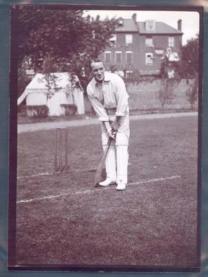 Photograph from Frank Laver's photograph album, Albert Hopkins - Australian cricket team tour of England 1909