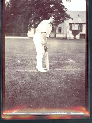 Photograph from Frank Laver's photograph album, Warren Bardsley - Australian cricket team tour of England 1909; Photography; M10719.40