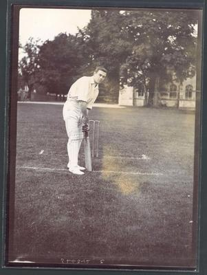 Photograph from Frank Laver's photograph album, Warren Bardsley - Australian cricket team tour of England 1909; Photography; M10719.41