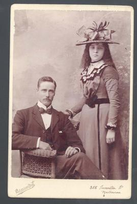 Photograph from Frank Laver's photograph album, Laver family members; Photography; M10742.17