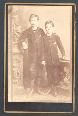 Photograph from Frank Laver's photograph album, Laver family members