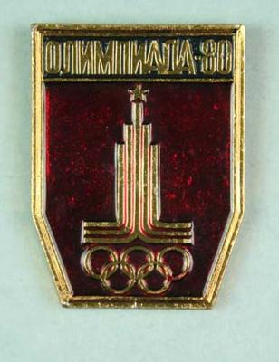 Badge, 1980 Olympic Games