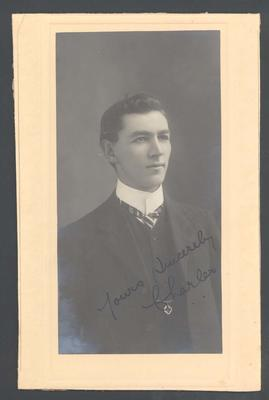 Photograph from Frank Laver's photograph album, Laver family member