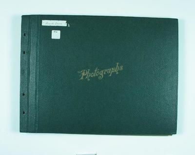 Photograph album, assembled by Frank Laver