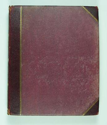 Photograph album presented to Vernon Ransford by Frank Laver, 1909 Australian Cricket Tour