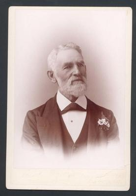 Photograph from Frank Laver's photograph album, unidentified man - 16 May 1897