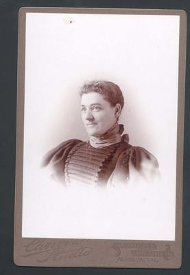 Photograph from Frank Laver's photograph album, unidentified woman