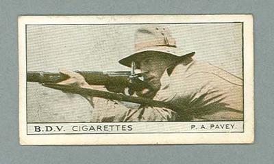 1933 Godfrey Phillips (BDV) Who's Who in Australian Sport P A Pavey & H Denny trade card