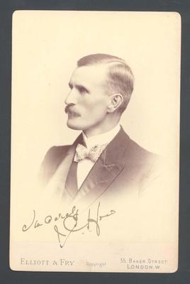 Photograph from Frank Laver's photograph album, unidentified man - July 1897