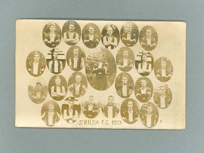 Photographic Postcard - St Kilda Football Club Team 1923
