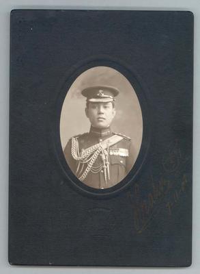 Photograph from Frank Laver's photograph album, unidentified man - 7 Nov 1909