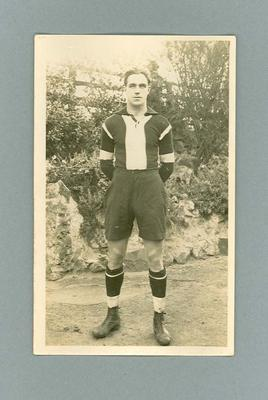 Photographic Postcard - Unidentified 1923 St Kilda Football Club Team Player; Documents and books; 1993.2881.11