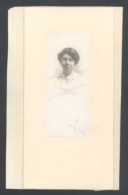 Photograph from Frank Laver's photograph album, unidentified woman - 1910