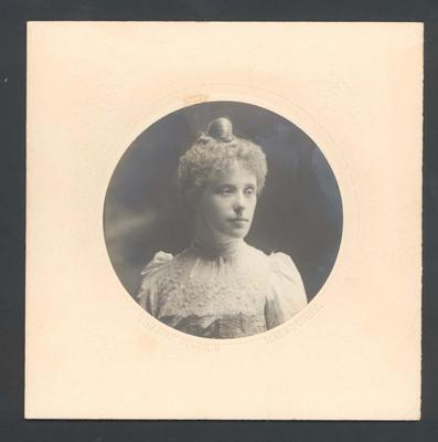 Photograph from Frank Laver's photograph album, Libbie Palmer - 5 May 1903