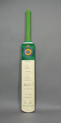 Presentation cricket bat, Allan Border Medal - 2004; Sporting equipment; M10931