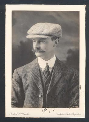 Photograph from Frank Laver's photograph album, A K Thomson - 8 Oct 1909