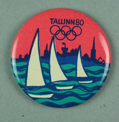 Badge, 1980 Olympic Games - Sailing (Tallinn)