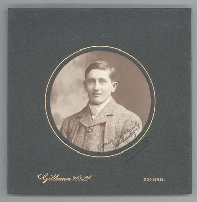 Photograph from Frank Laver's photograph album, unidentified man - 1906