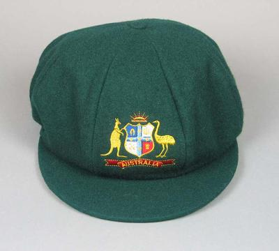 Australian cricket cap, worn by Allan Border