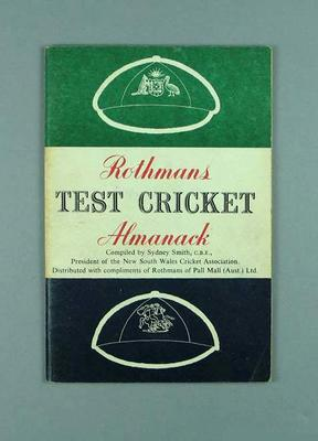 "Book, ""Rothmans Test Cricket Almanack 1958-59"""