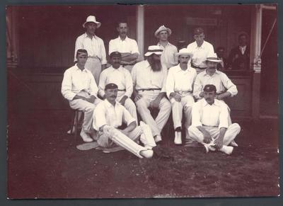 Photograph from Frank Laver's photograph album, English cricket team - 1899 Australian Cricket Tour