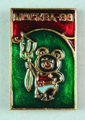 Badge, 1980 Olympic Games - Mishka the Bear (Equestrian)