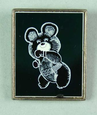 Badge, 1980 Olympic Games - Mishka the Bear (Boxing)