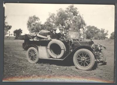Photograph from Frank Laver's photograph album, travel scene - undated