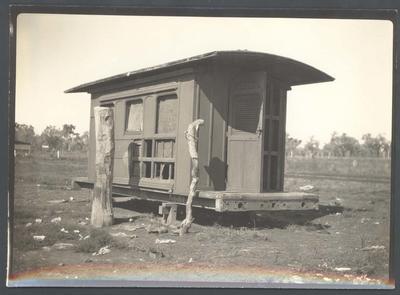 Photograph from Frank Laver's photograph album, travel scene - undated