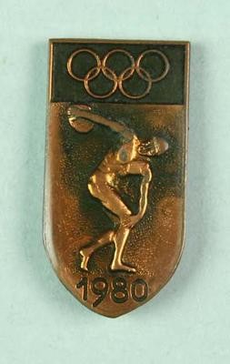Badge, 1980 Olympic Games - Discobolus
