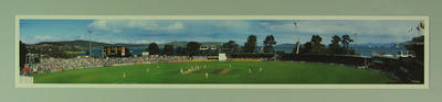 Panoramic photograph of Bellerive Oval, Australia v Pakistan Test match - 1995