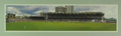 Panoramic photograph of Brisbane Cricket Ground, Australia v West Indies Test match - November 1996