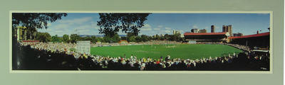 Panoramic photograph of the Adelaide Oval, Australia v England Test match - 1995