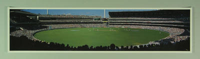 Panoramic photograph of Melbourne Cricket Ground, Australia v West Indies Test match - 1996