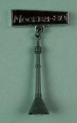 Badge, 1980 Olympic Games - Olympic Torch