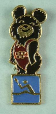 Badge, 1980 Olympic Games - Mishka the Bear (Rowing)