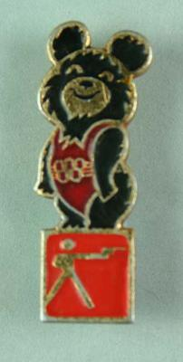 Badge, 1980 Olympic Games - Mishka the Bear (Shooting)