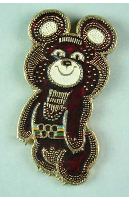 Badge, 1980 Olympic Games - Mishka the Bear