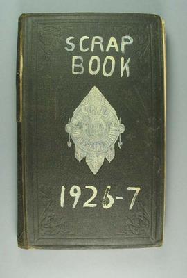 Scrap book kept by Robert Corbett, 1926-27