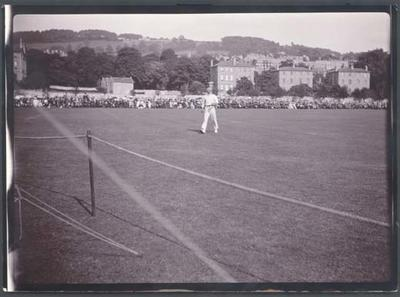 Photograph from Frank Laver's photograph album, Somerset v Australia cricket game at Bath - 1905