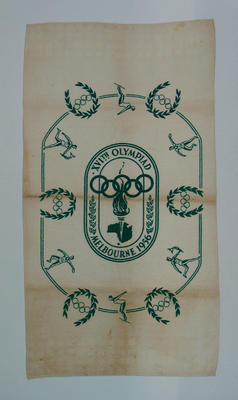 Towel, 1956 Olympic Games design