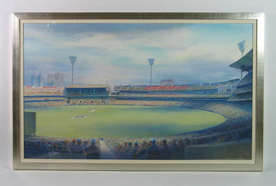 """Painting, """"2001 Boxing Day Test"""" by Kenneth Jack"""
