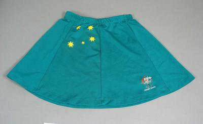 Hockey skirt, worn by Claire Mitchell-Taverner at Sydney 2000 Olympic Games