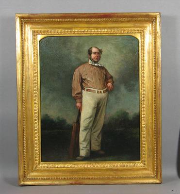 "Oil painting, ""Portrait of Alfred Mynn"" c. 1860 - artist unknown"