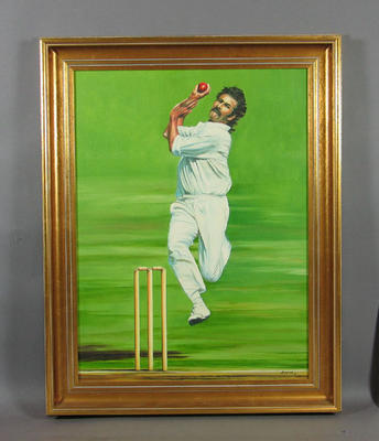 Painting, Dennis Lillee c1977