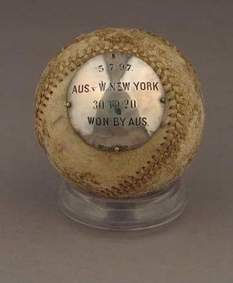 Baseball: Aus. v W. New York 5 July 1897 - Frank Laver captain Australian team