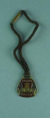 Fitzroy Cricket Club membership medallion, season 1963/64